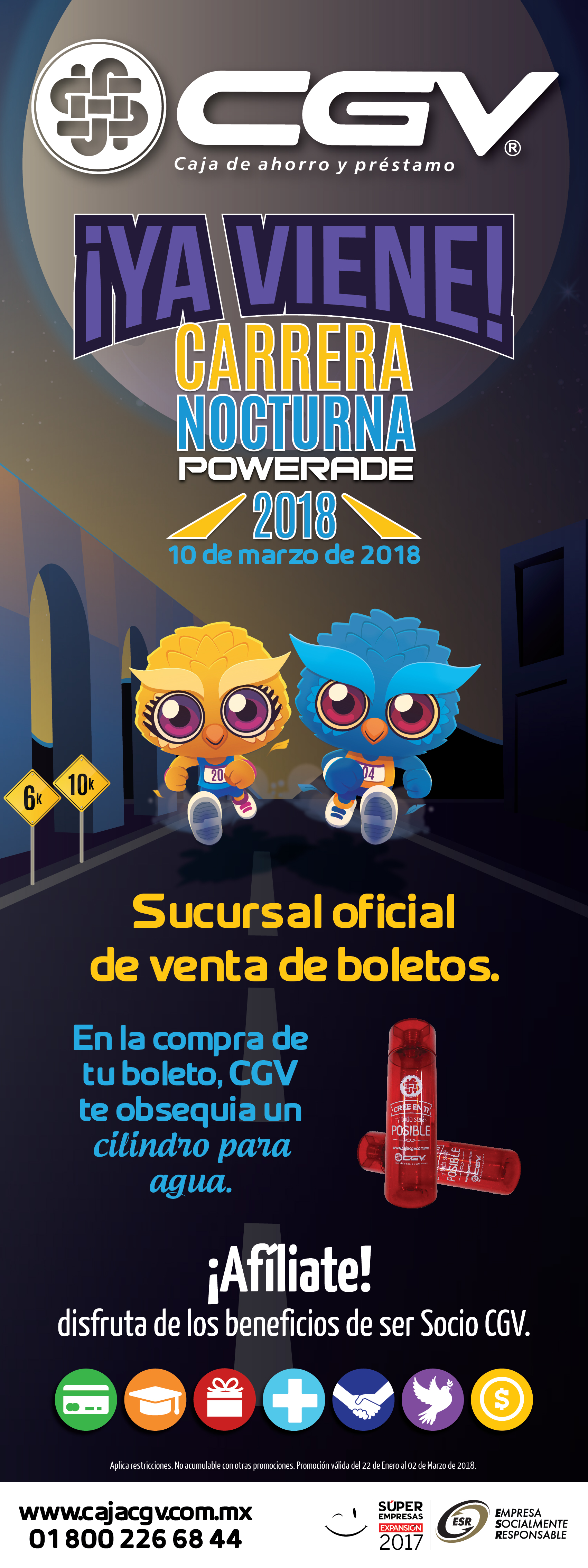 ESR- Carrera Nocturna Boletos
