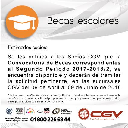 Segundo Período de Renovación de Becas 2017-2018/2