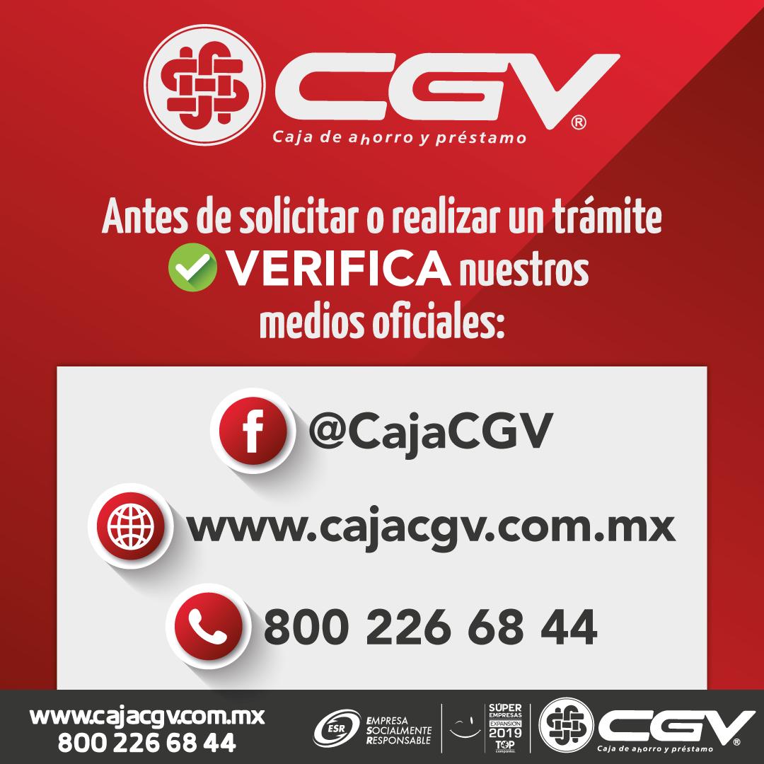 Datos de contacto oficiales CGV